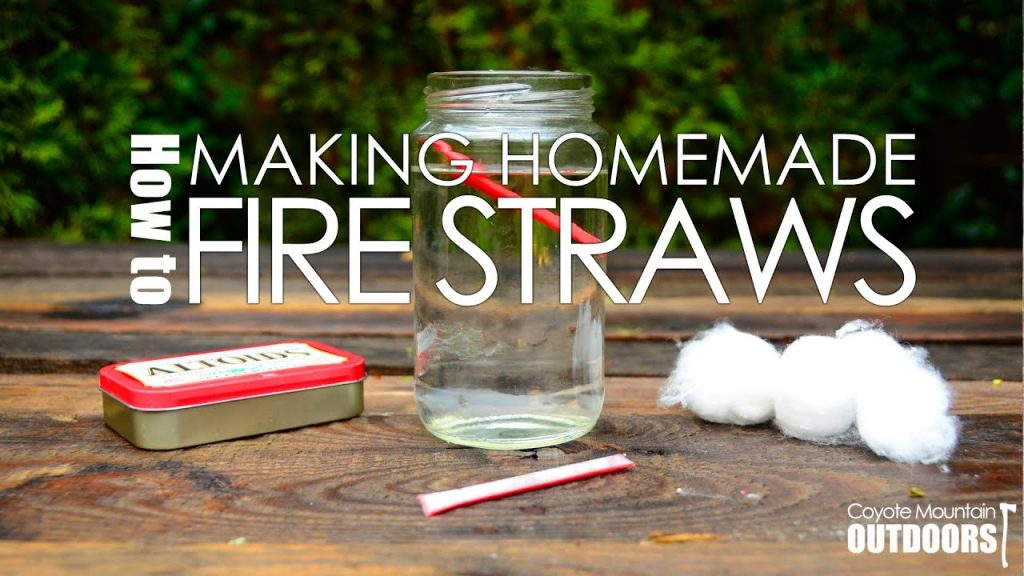 DIY Fire Straws